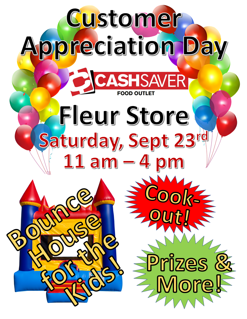 Cash Saver - Customer Appreciation Day